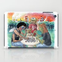 league iPad Cases featuring Mutant League Checkers by Justin Smith
