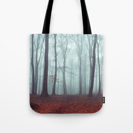 Forest Magic - Foggy Forest Scene Tote Bag