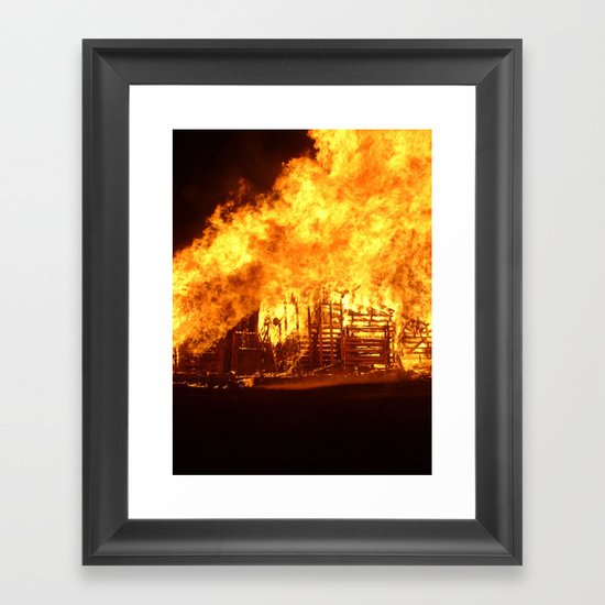 Burning Down the House Framed Art Print