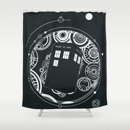 Negative Time and Space - Doctor Who inspired Shower Curtain