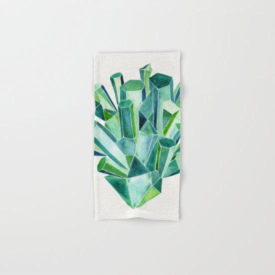 Emerald Watercolor Hand & Bath Towel