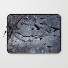 Woodland Crows And Bursting Stars Laptop Sleeve