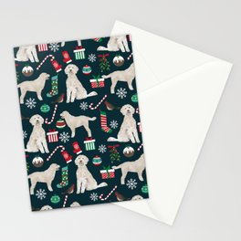 Golden Doodle unique christmas gifts for dog person dog breed pet portraits by pet friendly Stationery Cards
