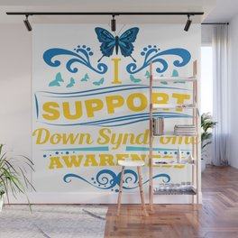 Down Syndrome Awareness Support Butterfly 21 Gift Wall Mural