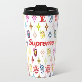 Lv x Supreme Logo Travel Mug