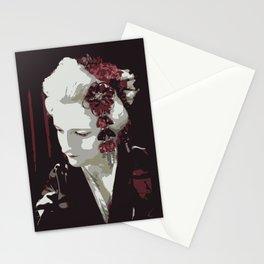 the fair-haired geisha Stationery Cards