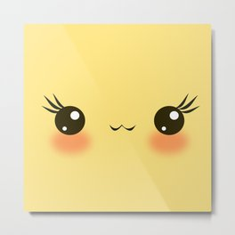 Kawaii Sunny Bright Metal Print