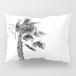 Gusty Black and White Palm Tree Pillow Sham
