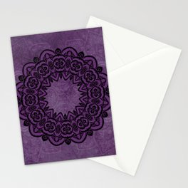 Circle in Purple Stationery Cards