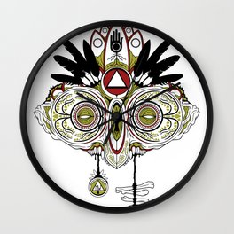 Death Mask 2 Wall Clock