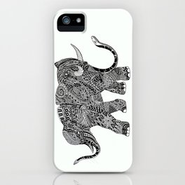 Snakelephant Indian Ink Hand Draw iPhone Case