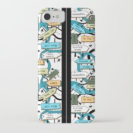 Hiking Trails Map by artestreestudio iPhone Case