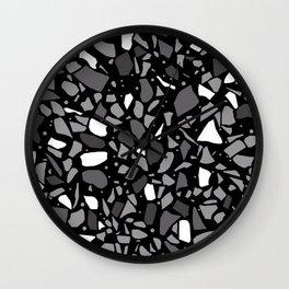 Terrazzo Spot Black 2 Wall Clock