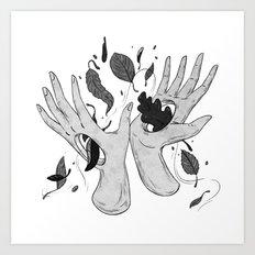 Autumn Hands Art Print