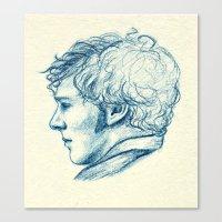 benedict cumberbatch Canvas Prints featuring Benedict Cumberbatch  by Renee Carranza