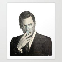 Don Draper's Blue Smoke Art Print