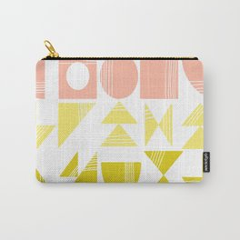 Organic Abstract Shapes in Soft Pastel Colors Carry-All Pouch