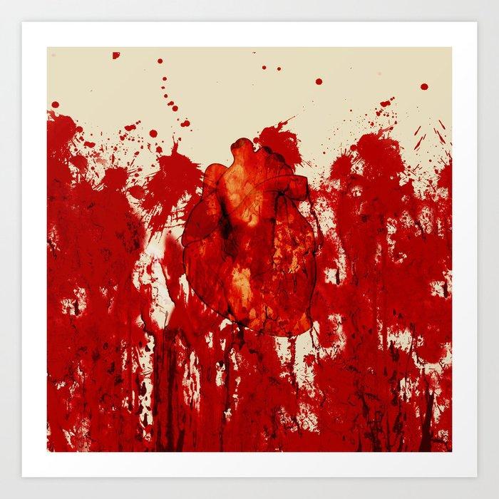 Blood Heart Art Print
