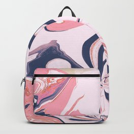 Abstract- Pink and Blue Backpack