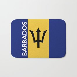 Barbados country flag name text Bath Mat