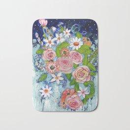 Celestial Sky Flower Garden Bath Mat
