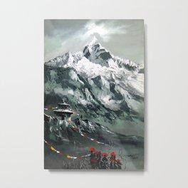 Panoramic View Of Mountain Everest Metal Print