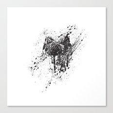 Saddle in Splatter Canvas Print