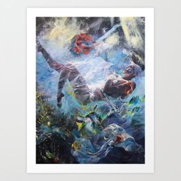 Drowning in Plastic Art Print