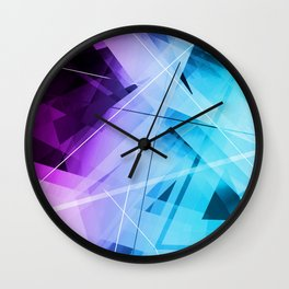 Reflections - Geometric Abstract Art Wall Clock