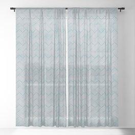 Blue metallic textile texture Sheer Curtain