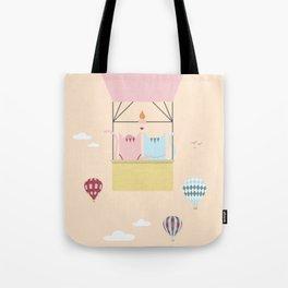 Traveling Tabbies: Hot Air Balloon Tote Bag