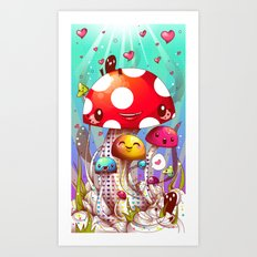 Mushroom Fantastic Art Print
