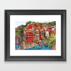 Manarola, Italy  Framed Art Print