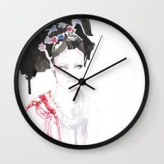 Watercolor illustrations Wall Clock