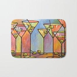 Martini Bar ... Abstract alcohol lounge bar kitchen art Bath Mat