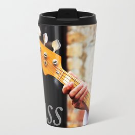 Bass Guitar neck , musical instrument  Travel Mug
