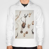 antler Hoodies featuring Antler Wall by Stacey Newman