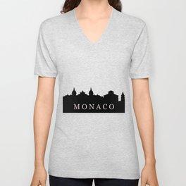 monaco skyline Unisex V-Neck