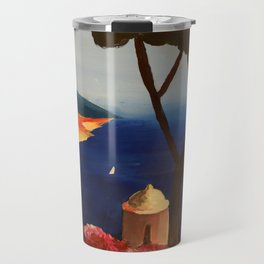 Ravello Salerno Italy View Of Amalfi Coast From Villa Rufolo Travel Mug