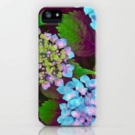 Hydrangea Pink and Blue iPhone Case