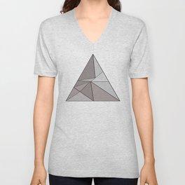Graphic Geometric Shape Gray Unisex V-Neck