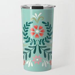 Floral Folk Pattern Travel Mug