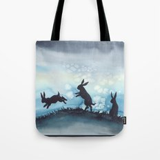 Blue Bunnies Tote Bag