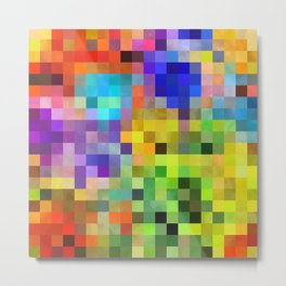 Patchwork Pixels Metal Print