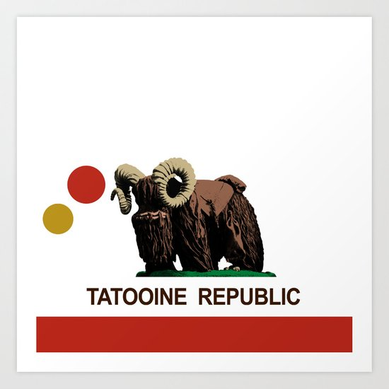 The Tatooine Republic Flag Art Print