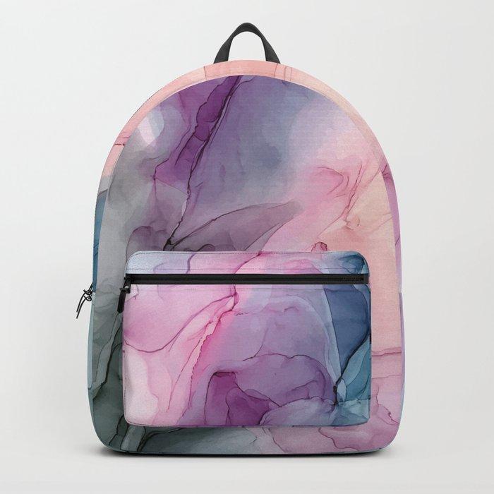 Dark and Pastel Ethereal- Original Fluid Art Painting Rucksack