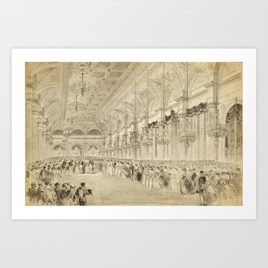 Grand Ball Hotel De Ville Paris Art Print
