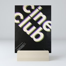Plakat cine club 15e saison du cine club Mini Art Print