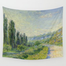 """Claude Monet """"The Road to Vétheuil"""" (1880) Wall Tapestry"""