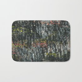 Here & There Abstact Painting - Dark with Pops of Color Bath Mat